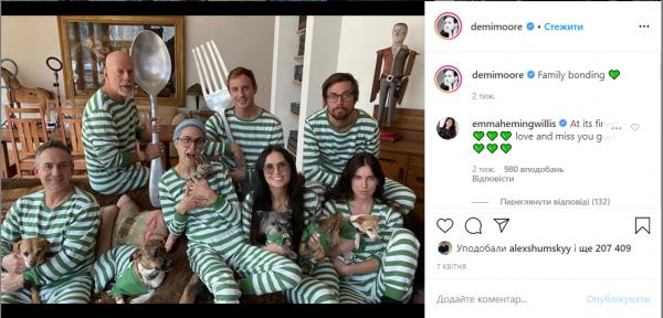 Почему Брюс Уиллис сидит на карантине с экс-супругой Деми Мур