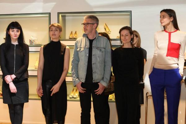 Редакция журнала Vogue Украина (слева направо): Ольга Януль, Маша Цуканова, Филипп Власов, Татьяна Соловей, Юлия Пелипас