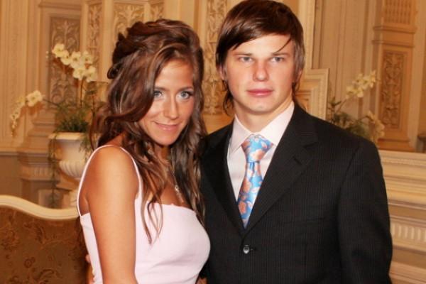 Андрей Аршавин и его супруга Юлия