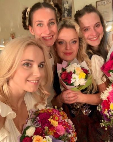 Лилия Ребрик с коллегами по театру