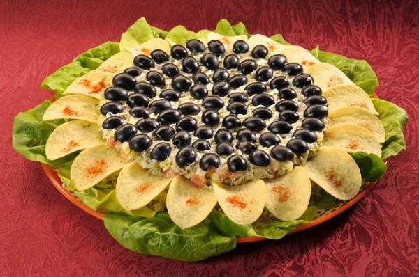 Рецепт                  Новогодние рецепты: Салат Подсолнух