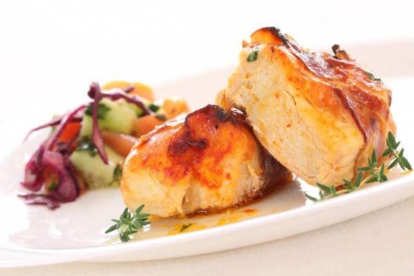 Рецепт                  Куриное филе с беконом и сыром