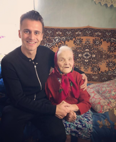 Александр Скичко с бабушкой фото