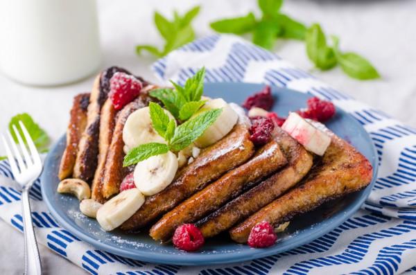 Французские тосты с бананами
