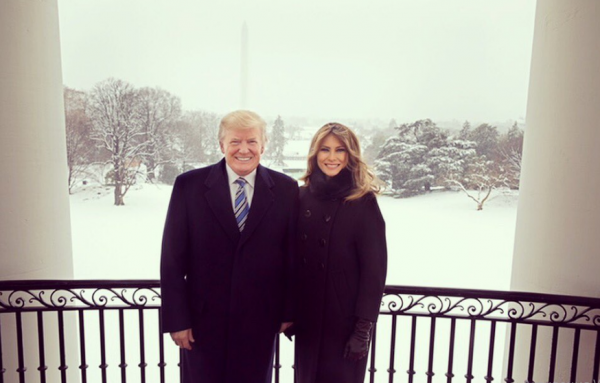 Мелания и Дональд Трамп фото