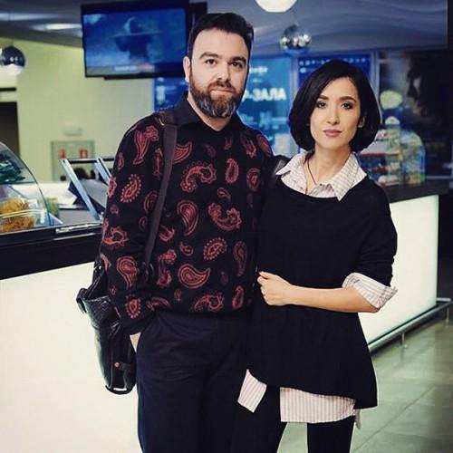 Анна Завальская с мужем композитором Дмитрием Саратским