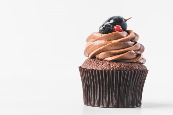 Шоколадный капкейк в микроволновке фото