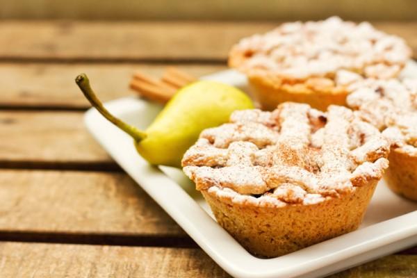 Рецепт                  Мини-пироги с грушевой начинкой