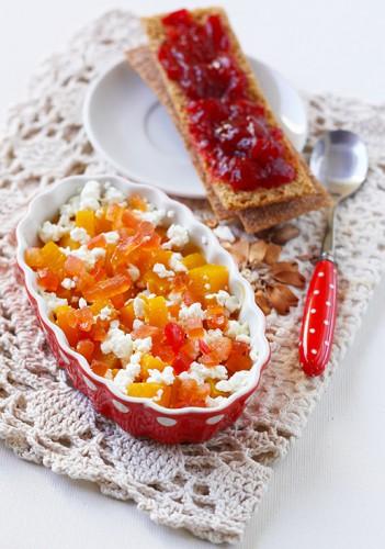 Рецепт                  Запеченная тыква с творогом и цукатами