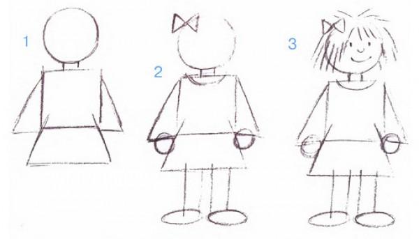 как нарисовать девочку картинки