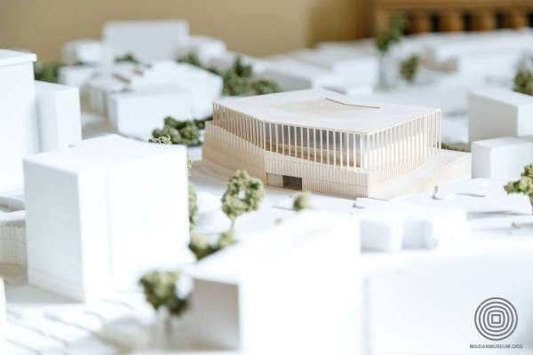 Выставка проектов архитектурного конкурса здания Музея Майдана