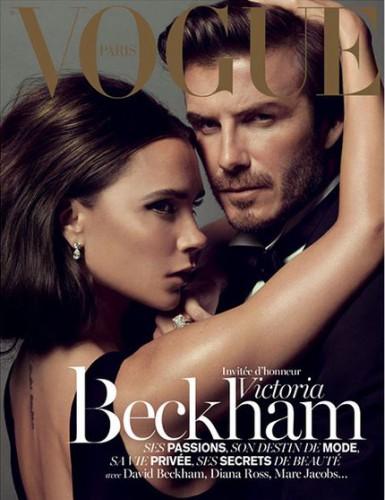 Дэвид и Виктория Бекхэм украсили страницы рождественского номера журнала Vogue Paris