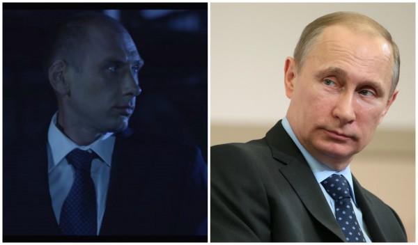 Владимир Путин (справа) и его двойник