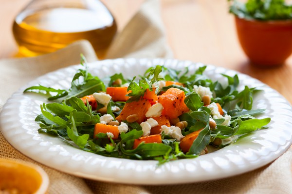 Рецепт                  Салат из запеченной тыквы с фетой
