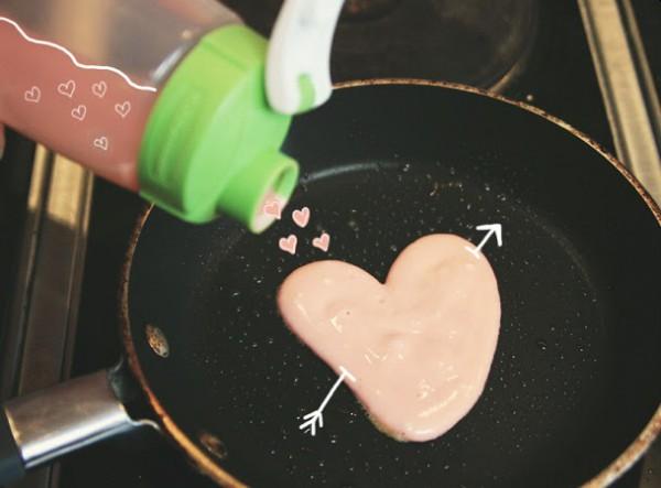 Оладьи на День святого Валентина