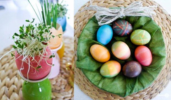 Мини-вазончики из яичный скорлупы - оригинальная идея украшения пасхального стола