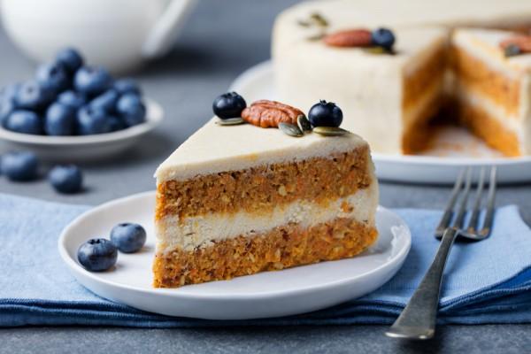 Морковный торт постный