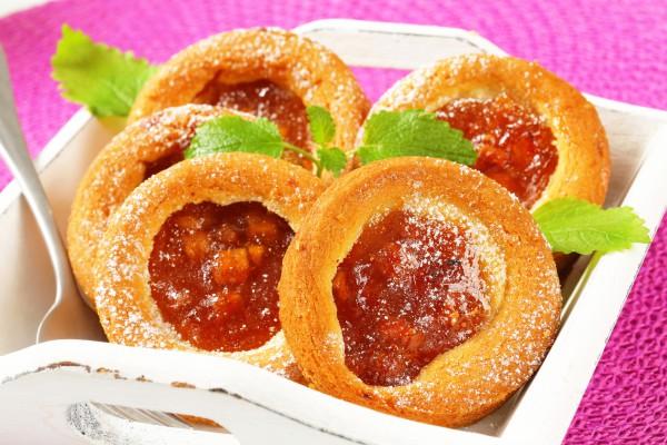 Тарталетки с фруктовым джемом