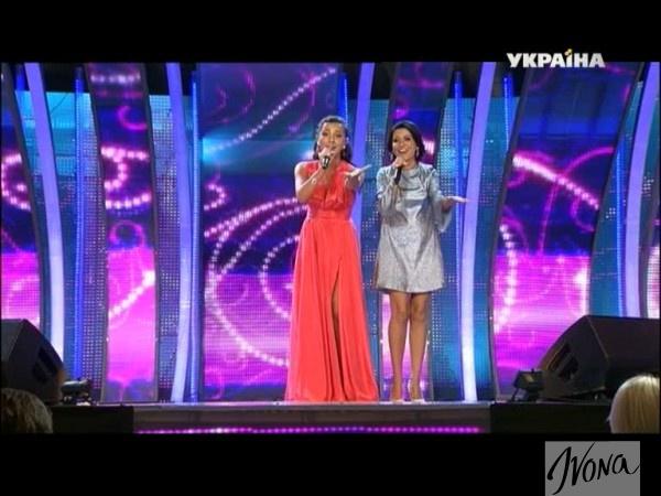 Нуца Бузаладзе и Софико (справа) на Новой волне 2014