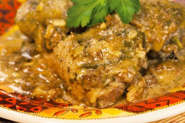 Рецепт                  Курица в сметанно-горчичном соусе