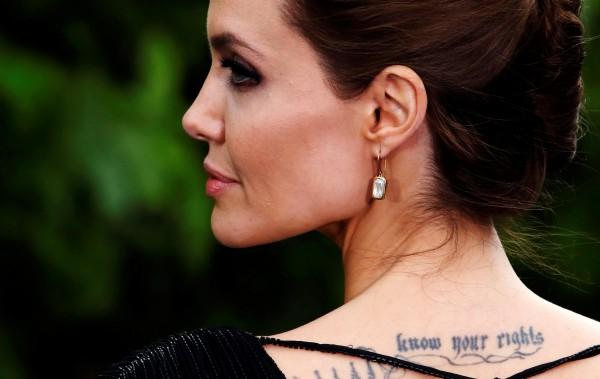 Джоли на премьере фильма Малефисента
