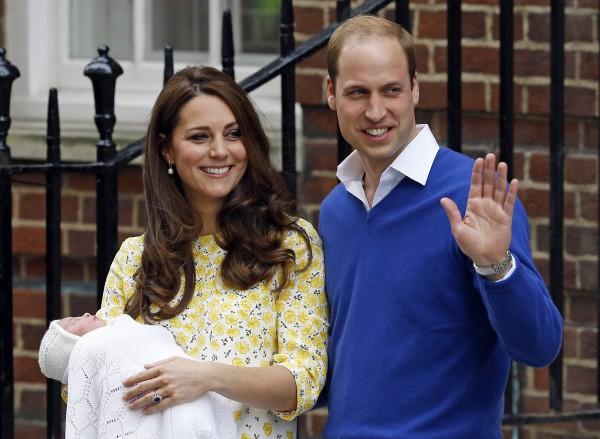 Кейт Миддлтон и принц Уильям отправились с новорожденной дочкой за город