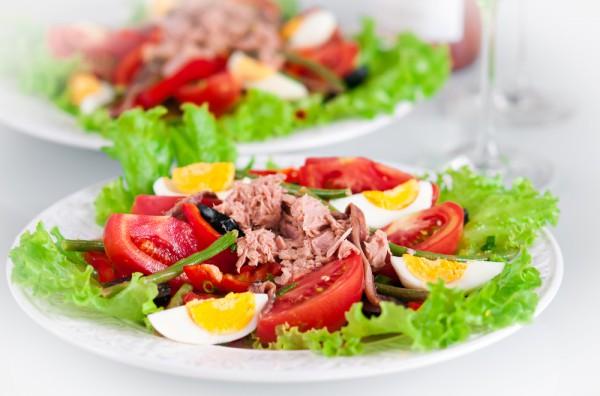 Рецепт                  Салат из тунца с зеленой фасолью