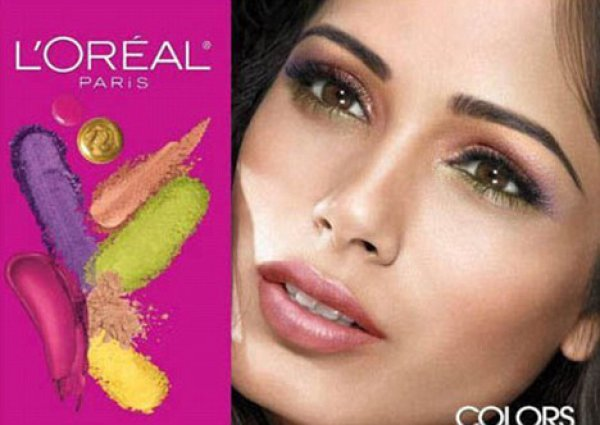 Фрида Пинто в рекламной кампании L'Oreal Colours Take Flight