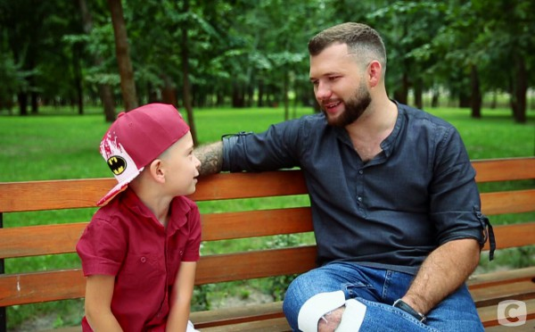 Андрей Павлюк с сыном