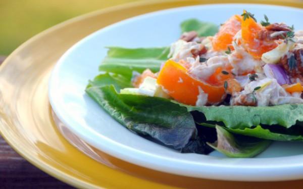 Рецепт                  Куриный салат с хурмой