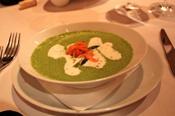 Рецепт                  Огуречный суп с лососем