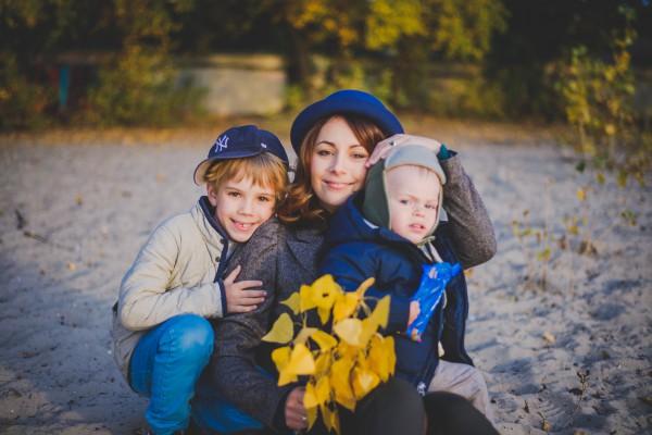 Телеведущая Даша Малахова с сыновьями