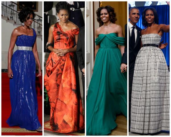 Мишель Обама не боится ярких цветов и смелых фасонов