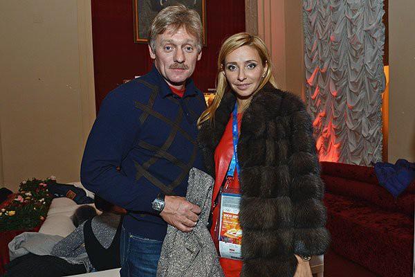 Татьяна Навка с Дмитрием Песковым