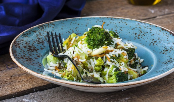 Вегетарианский рецепт жареного риса