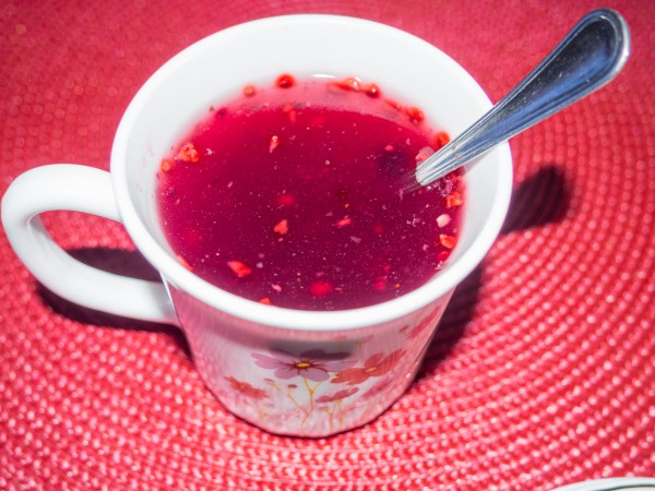 Рецепт                  Апельсиново-тыквенный кисель с ягодами