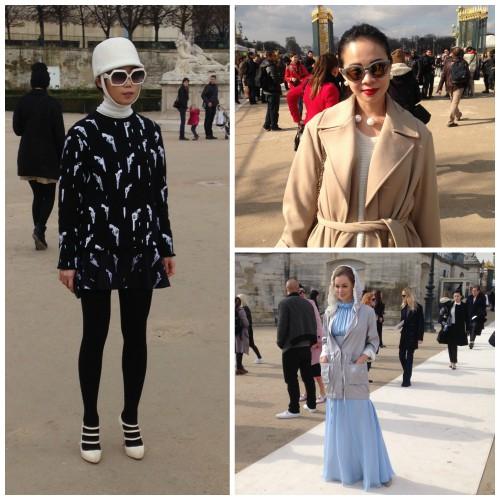 Street stylе на Неделе моды в Париже