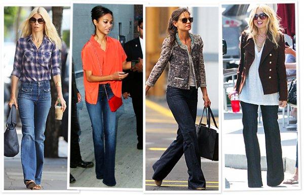 Благодаря звездам джинсы в стиле 70-х возвращается в моду