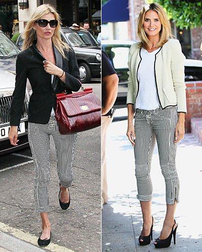 Кейт Мосс и Хайди Клум в брюках Isabel Marant