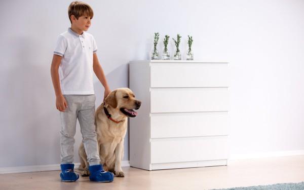 Мирослав Жмурко и пес Фигаро фото