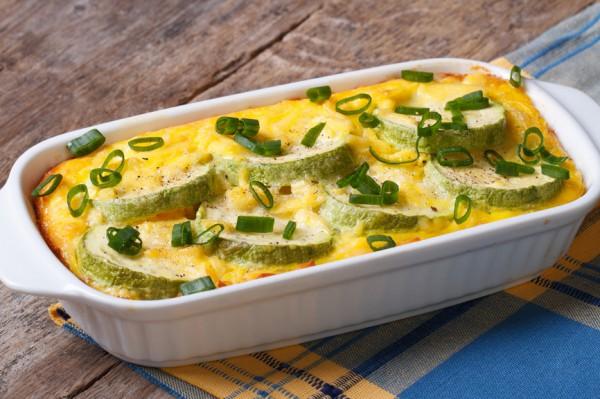 Рецепт                  Кабачки, запеченные с сыром