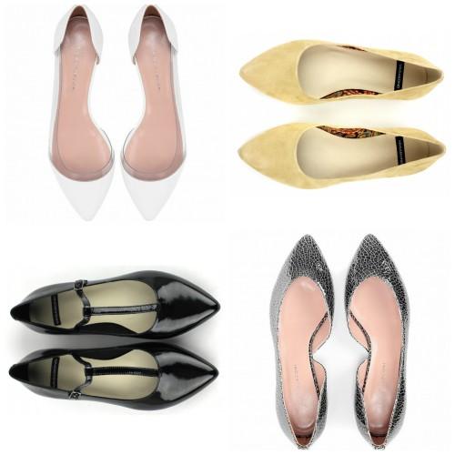 Модная обувь 2014: остроносые балетки