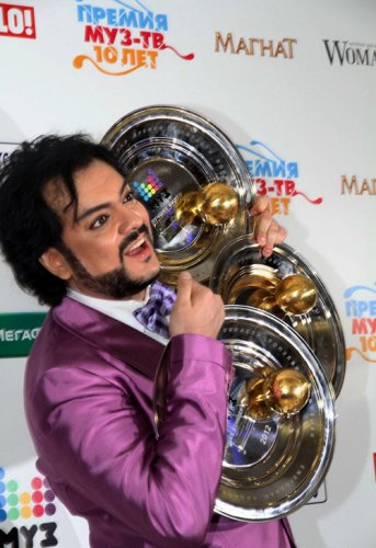 Филипп Киркоров получил три премии от МУЗ-ТВ