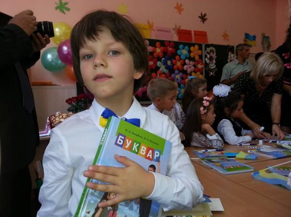 Сын Сергея Притулы пошел в первый класс