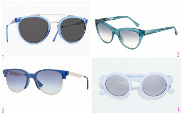 1) SUPER Giaguaro Lazuli, 2950 грн. 2) Police, 1383,20 грн. 3) Vogue, 959 грн. 4) Zara, 199 грн.