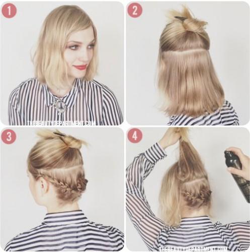 элегантные прически на средние волосы фото