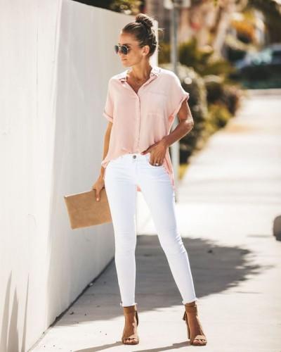 Актуально: Как выглядеть стильно в белых джинсах