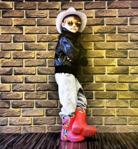Сын Татьяны Денисовой растет настоящим модником