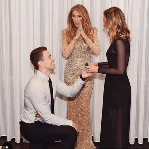 Юноша сделал предложение собственной девушке при Селин Дион