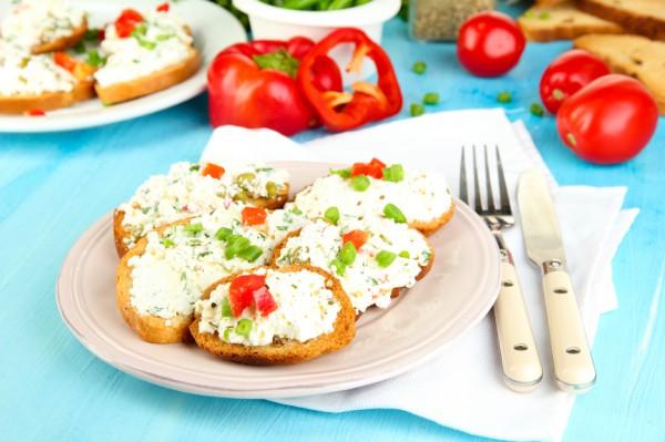 Рецепт                  Творожно-овощной салат